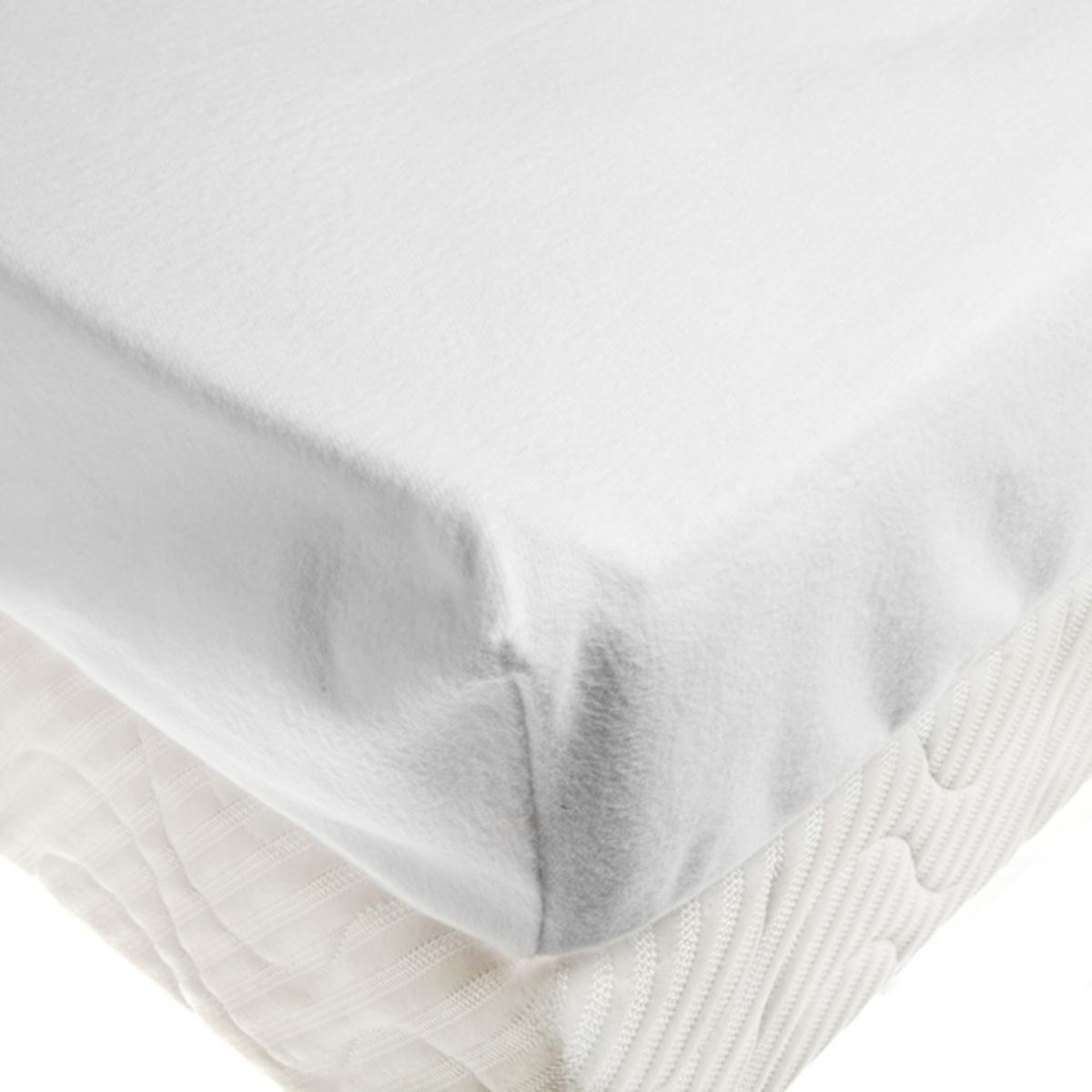 Drap housse double molleton microstop linge de lit de for Drap housse double