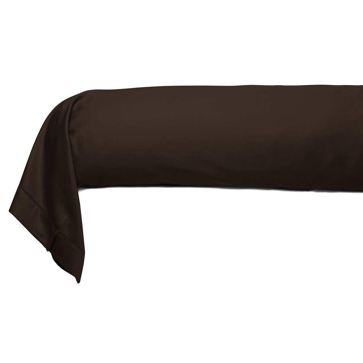 taie traversin unie satin jacquard linge de maison de. Black Bedroom Furniture Sets. Home Design Ideas
