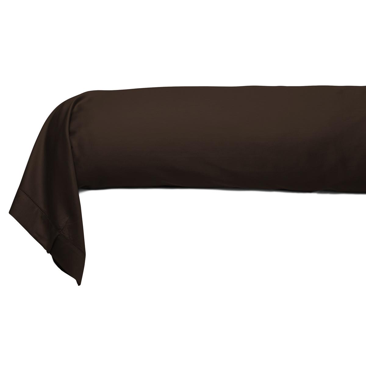 taie traversin unie satin jacquard soldes jusqu 39 55. Black Bedroom Furniture Sets. Home Design Ideas