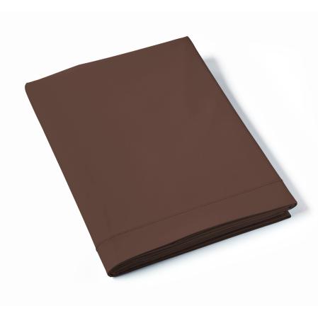 Drap Plat Uni Percale Fin de Série Chocolat | Linge de lit | Tradition des Vosges
